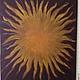 Абстракция ручной работы. Ярмарка Мастеров - ручная работа. Купить Сказочное солнце. Handmade. Разноцветный, оранжевый цвет, солнце