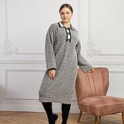 Одежда handmade. Livemaster - original item Herringbone viscose Polo dress. Handmade.