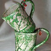 Посуда ручной работы. Ярмарка Мастеров - ручная работа Кружки лесных эльфов. Handmade.