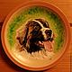 Декоративная посуда ручной работы. Ярмарка Мастеров - ручная работа. Купить Портрет собаки на керамической тарелке. Handmade. Портрет на заказ