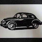 Картины и панно ручной работы. Ярмарка Мастеров - ручная работа Картина из ниток ретро авто (ретро стиль). Handmade.