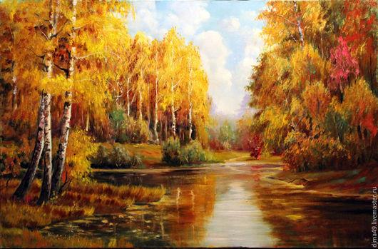Пейзаж ручной работы. Ярмарка Мастеров - ручная работа. Купить Осень золотая. Handmade. Живопись, пейзажи, масло, холст