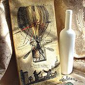 """Для дома и интерьера ручной работы. Ярмарка Мастеров - ручная работа Настенные часы """"Love in a Ballon"""". Handmade."""