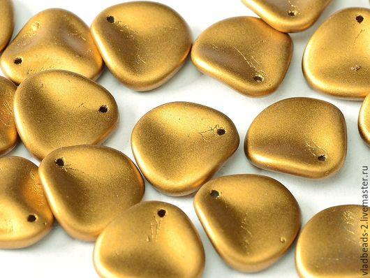 Для украшений ручной работы. Ярмарка Мастеров - ручная работа. Купить Rose Petals 14x13мм Brass Gold. Handmade.