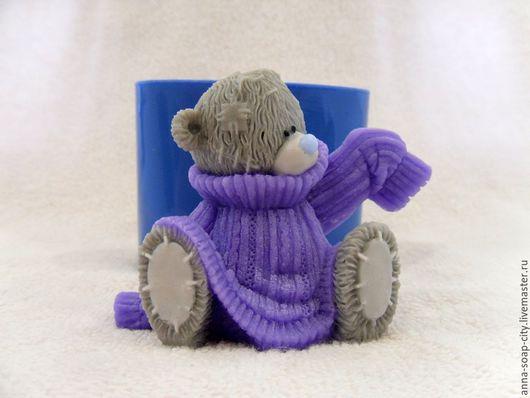 """Другие виды рукоделия ручной работы. Ярмарка Мастеров - ручная работа. Купить Силиконовая форма для мыла """"Мишка Тедди примеряет свитер"""". Handmade."""