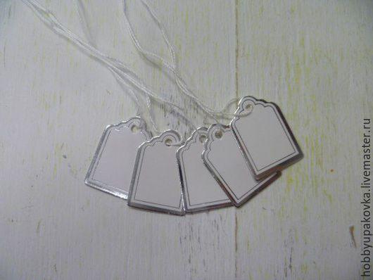 """Упаковка ручной работы. Ярмарка Мастеров - ручная работа. Купить Теги 2,5х1,5 см """"серебро"""" (10 штук ). Handmade."""