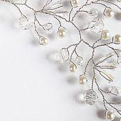 Свадебный салон ручной работы. Ярмарка Мастеров - ручная работа Невесомое украшение для прически невесты. Handmade.