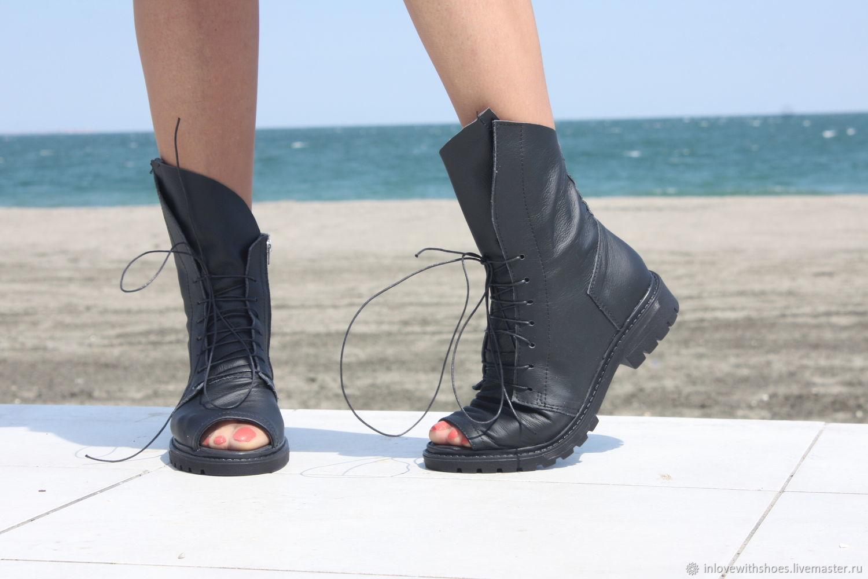 a34566c48 Заказать Летние сапоги ботинки на шнуровке и на платформе. inlovewithshoes.