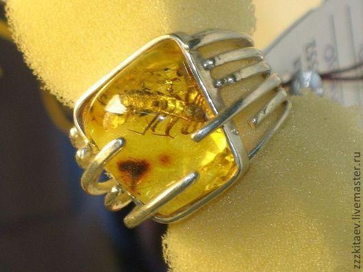 Кольца ручной работы. Ярмарка Мастеров - ручная работа. Купить кольцо СОРОКОНОЖКА. Handmade. Серебряный, насекомые