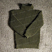 Одежда handmade. Livemaster - original item Knitted sweater khaki acrylic (No. №359). Handmade.