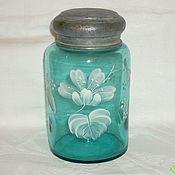 Винтаж handmade. Livemaster - original item Caddy. colour of copper sulphate crystal. The end of the 19th century. RUSSIA Maltsev. Handmade.