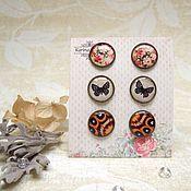 Украшения handmade. Livemaster - original item Stud Earrings Butterfly Bouquet Of Roses Butterfly Wings Boho Style. Handmade.