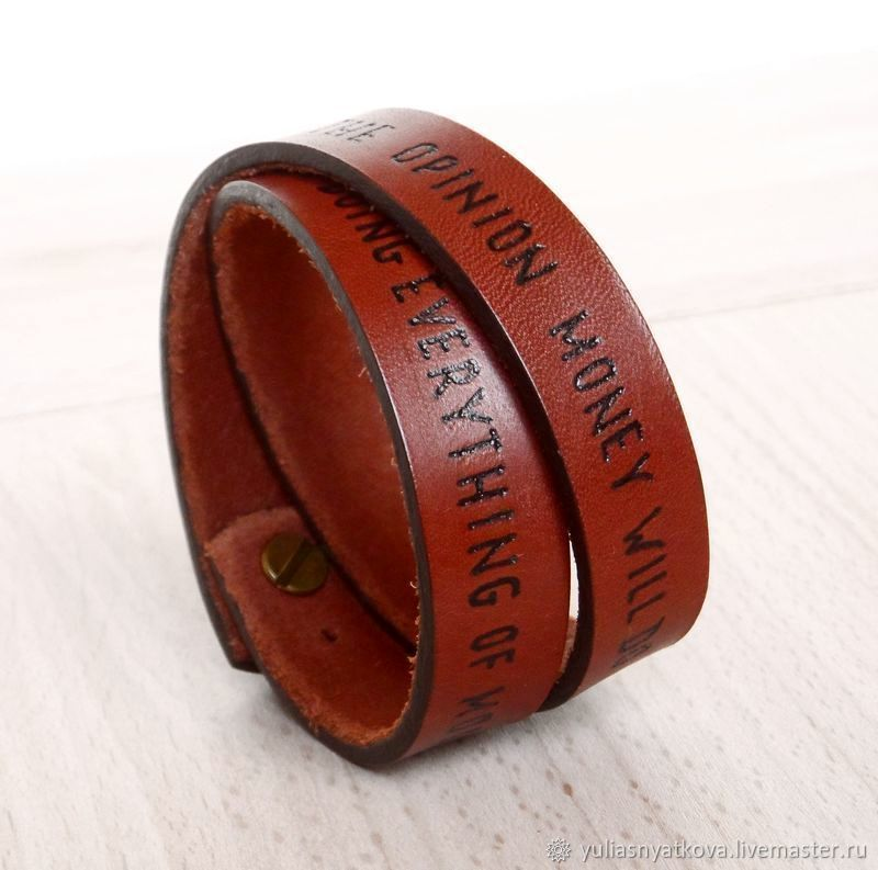 Bracelets Handmade Livemaster Personalized Custom Leather Bracelet Text Name