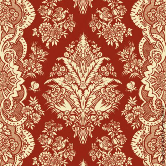 Узор на красном (SLOG008602) - салфетка для декупажа, , Москва, Фото №1