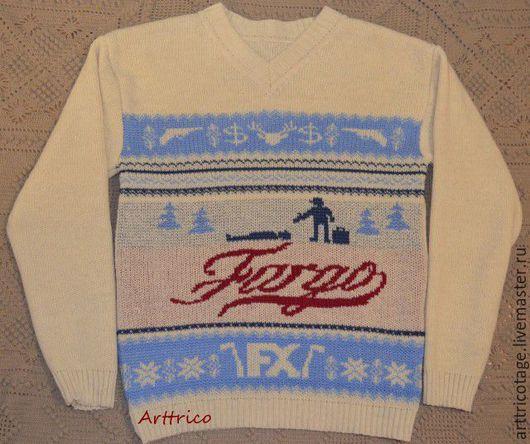 Кофты и свитера ручной работы. Ярмарка Мастеров - ручная работа. Купить Свитер по мотивам к/ф «Fargo». Handmade. Комбинированный
