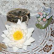 """Украшения ручной работы. Ярмарка Мастеров - ручная работа """"Водяная лилия"""" Заколка из фоамирана. Handmade."""