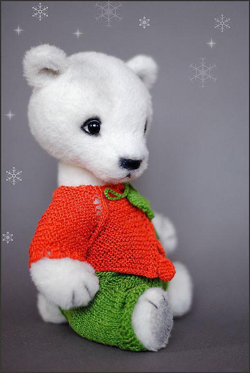 Мишки Тедди ручной работы. Ярмарка Мастеров - ручная работа. Купить снежный  Норман. Handmade. Авторский мишка тедди, белоснежный