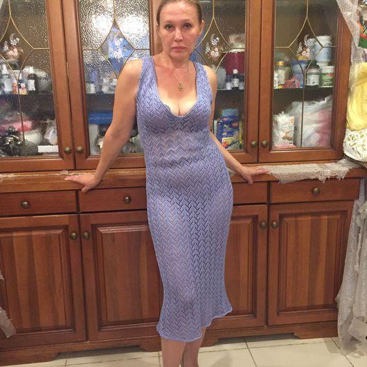 Платья ручной работы. Ярмарка Мастеров - ручная работа. Купить Платье вязаное пляжное. Handmade. Пляжное платье, платье на заказ