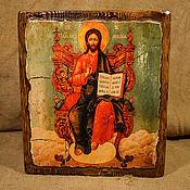 """Картины и панно ручной работы. Ярмарка Мастеров - ручная работа Икона """"Вседержитель на троне"""". Handmade."""