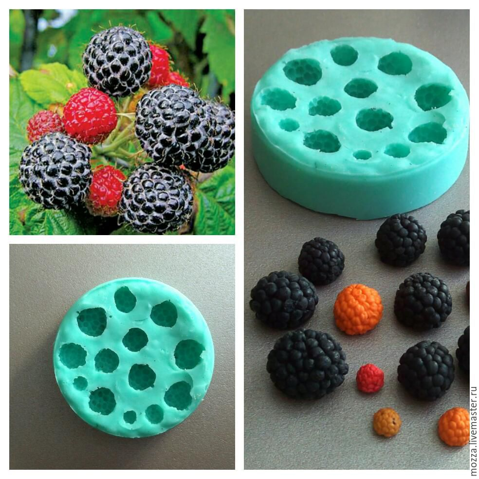 Silicone mold 'raspberries - blackberries', Molds for making flowers, Zarechny,  Фото №1