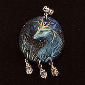 """Украшения ручной работы. Ярмарка Мастеров - ручная работа Кулон """"Хранительница лазурных вод"""". Handmade."""