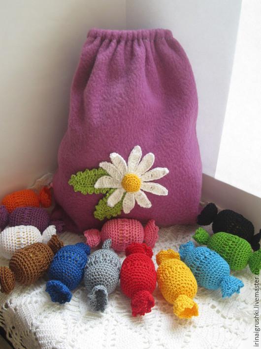 Развивающие игрушки ручной работы. Ярмарка Мастеров - ручная работа. Купить Целый мешок конфет! (учим цвета). Handmade. Разноцветный