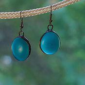 Украшения handmade. Livemaster - original item The earrings are Two drops of heaven in salt.. Handmade.