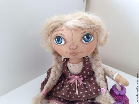 """Куклы тыквоголовки ручной работы. Ярмарка Мастеров - ручная работа. Купить Кукла-тыквоголовка """"Шурочка"""". Handmade. Бежевый, подарок девушке"""