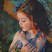 """Картины и панно ручной работы. Ярмарка Мастеров - ручная работа Картина вышитая бисером """"Куда уходит детство"""". Handmade."""