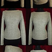 Одежда handmade. Livemaster - original item 100% linen jumper BUTTERFLY. Handmade.