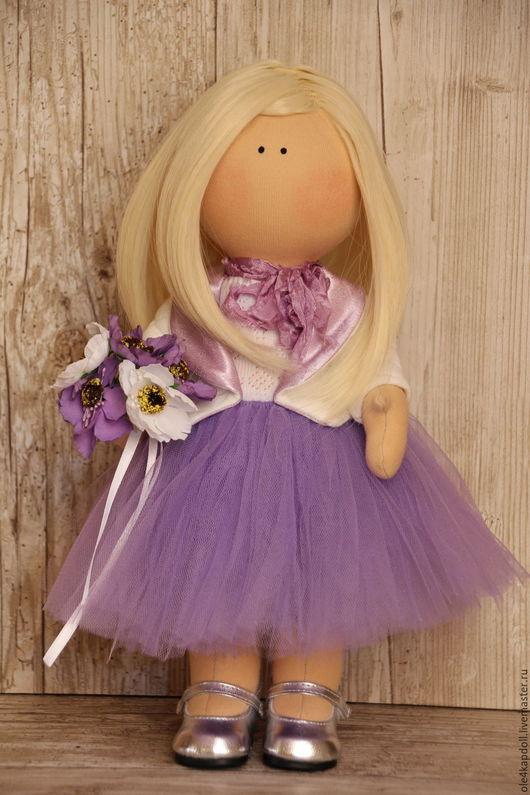 """Куклы тыквоголовки ручной работы. Ярмарка Мастеров - ручная работа. Купить Авторская кукла """"Лаванда"""". Handmade. Бледно-сиреневый"""