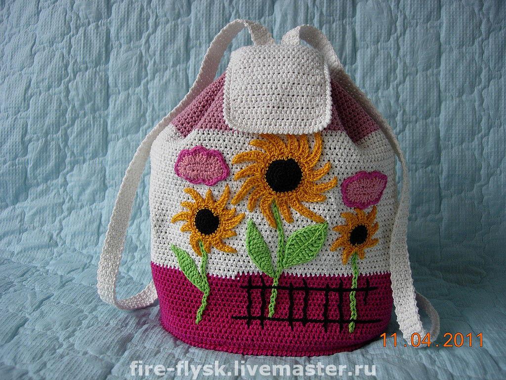 Вяжем детские рюкзаки