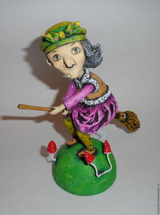 Коллекционные куклы ручной работы. Ярмарка Мастеров - ручная работа. Купить Баба Яга. Handmade. Папье-маше, папье-маше