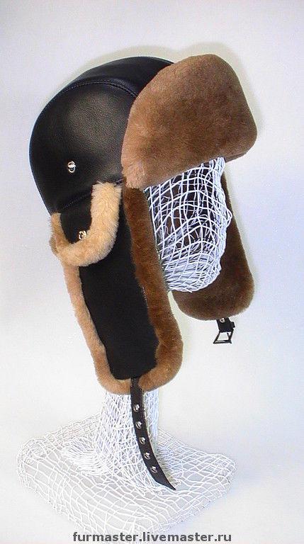 Шапки ручной работы. Ярмарка Мастеров - ручная работа. Купить Шлем  с декоративными ушками. Handmade. Кожа натуральная