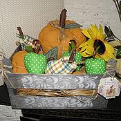 Для дома и интерьера ручной работы. Ярмарка Мастеров - ручная работа Текстильные овощи и фрукты в ящике. Handmade.