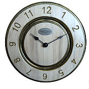 Для дома и интерьера handmade. Livemaster - original item A wall clock. White beech. Old gold. Two.. Handmade.