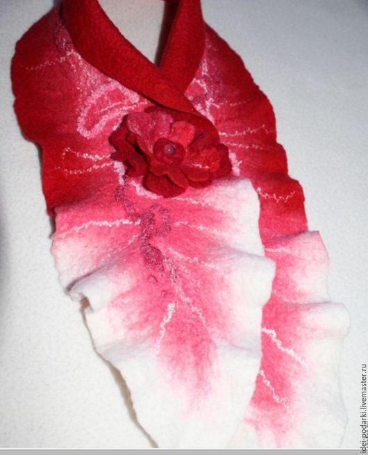 Шарфы и шарфики ручной работы. Ярмарка Мастеров - ручная работа. Купить Шарфик Роза. Мериносовая шерсть. Handmade. Комбинированный