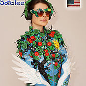 Одежда handmade. Livemaster - original item Women`s genuine leather jacket exclusive from Sofalee. Handmade.
