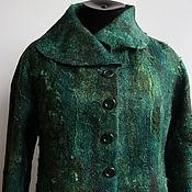 Одежда ручной работы. Ярмарка Мастеров - ручная работа Жакет валяный Изумрудный. Handmade.