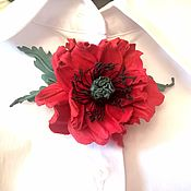 Украшения handmade. Livemaster - original item Leather flowers.