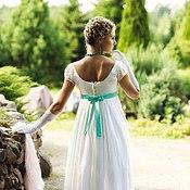 Одежда ручной работы. Ярмарка Мастеров - ручная работа Платье ампир дневное для приёмов. Handmade.
