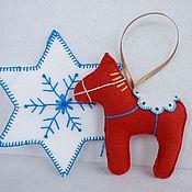 """Подарки к праздникам ручной работы. Ярмарка Мастеров - ручная работа Елочная игрушка """"Даларнская лошадка"""". Handmade."""