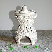 Сувениры и подарки ручной работы. Ярмарка Мастеров - ручная работа Аромалампа Кудесница белая. Handmade.