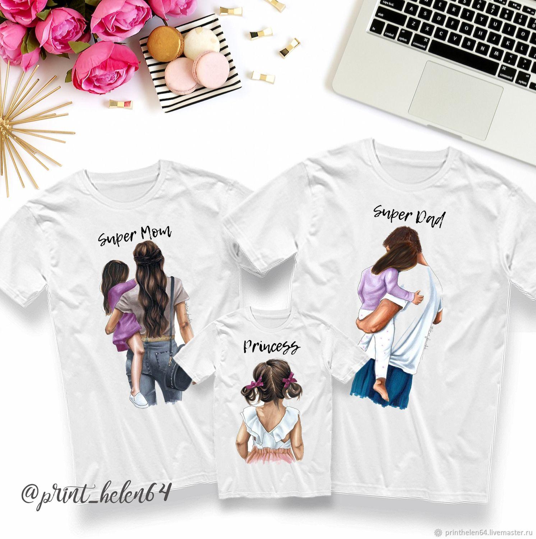 Семейная футболка для мамы, для папы и для дочки, Футболки, Саратов,  Фото №1