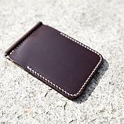 Сумки и аксессуары handmade. Livemaster - original item Wallet with money clip (Horween leather ). Handmade.