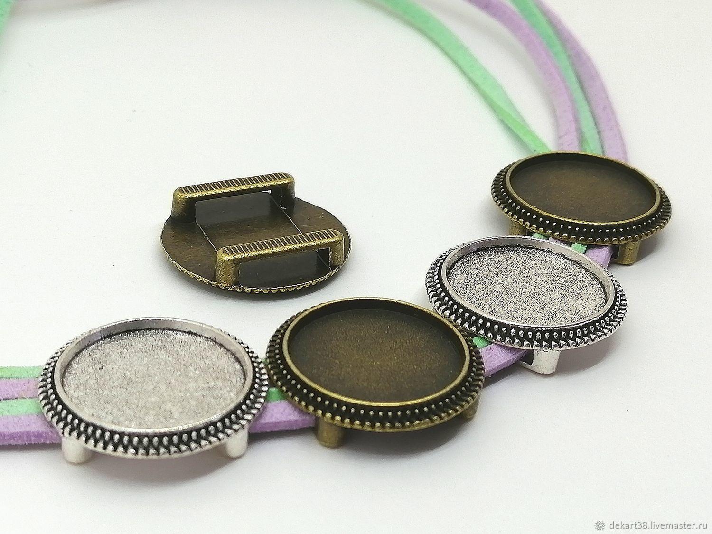 Bracelet settings, 18 mm. Art.OB70, Blanks for jewelry, Irkutsk,  Фото №1