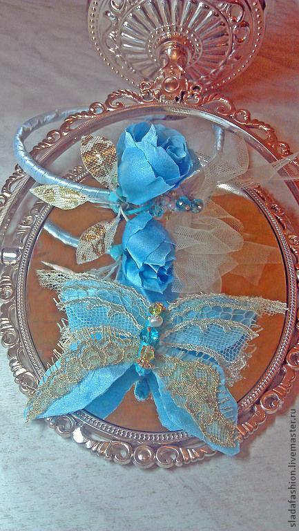 """Женские сумки ручной работы. Ярмарка Мастеров - ручная работа. Купить Комплект """"Бал в Версале"""". Handmade. Голубой, бабочка брошь"""