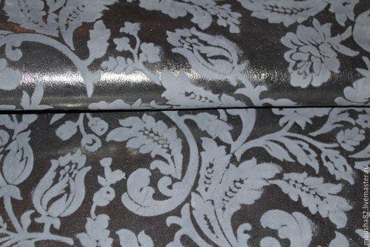 Шитье ручной работы. Ярмарка Мастеров - ручная работа. Купить кожа МРС серебро с рисунком. Handmade. Натуральная кожа