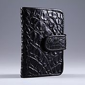 Сумки и аксессуары handmade. Livemaster - original item Crocodile leather business card holder IMA0132B5. Handmade.