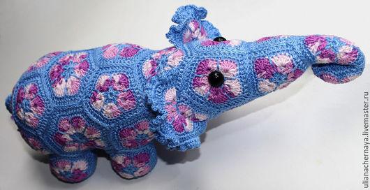 Игрушки животные, ручной работы. Ярмарка Мастеров - ручная работа. Купить Цветочный Слоник. Handmade. Слон, вязаный, африканский цветок